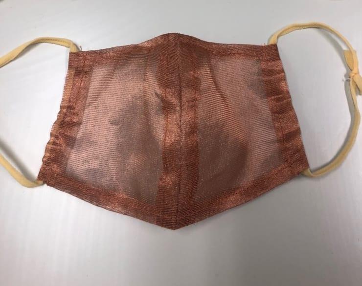 銅繊維シートで作られたマスクカバーサンプル(提供:群馬大学)