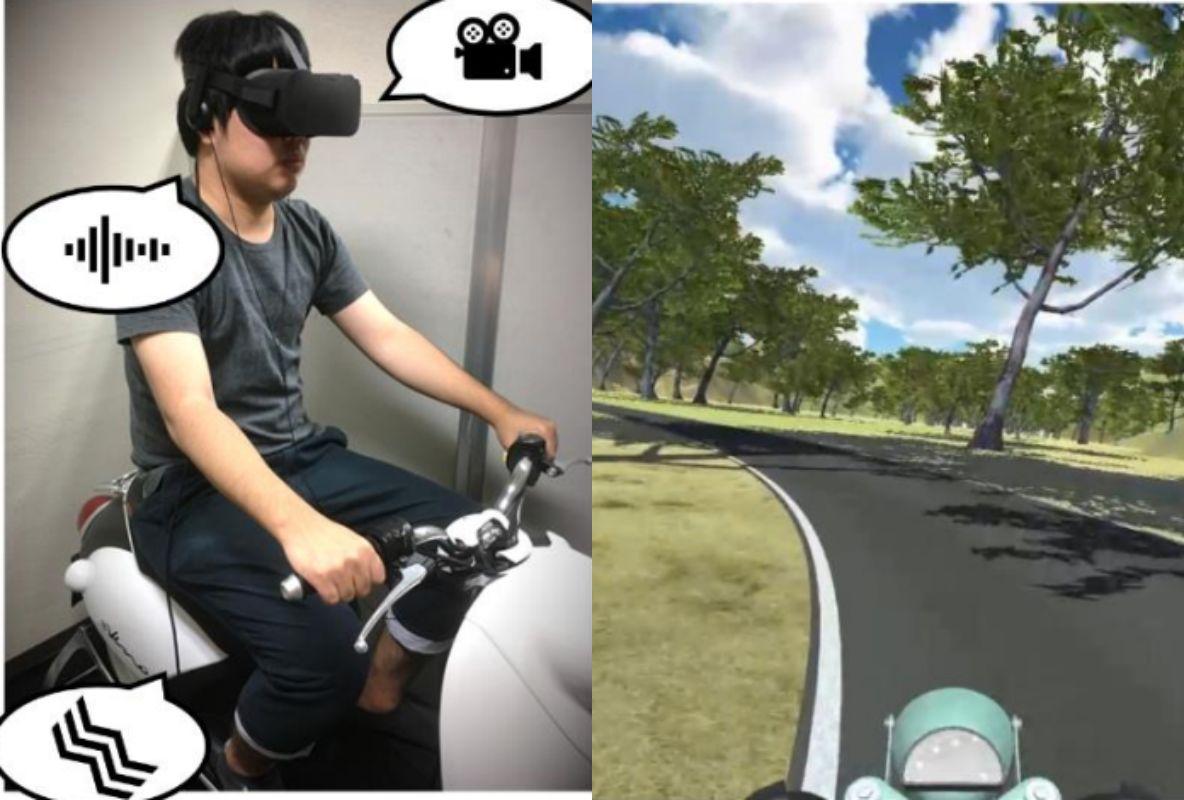 実験風景(左),参加者に呈示した映像(右)静岡大学プレスリリースより