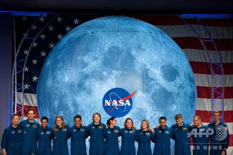 米ヒューストンで行われた米航空宇宙局(NASA)の宇宙飛行士候補生の公開卒業式(2020年1月10日撮影)。(c)Mark Felix / AFP