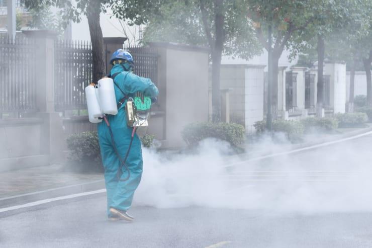 感染抑止のため街は徹底的な消毒が行われた(イメージ写真 本文とは直接関係ありません)