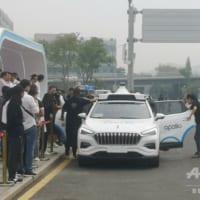 中国で相次ぐ自動運転タクシーの公道テスト IT企業ら「レベル4」の競争激化