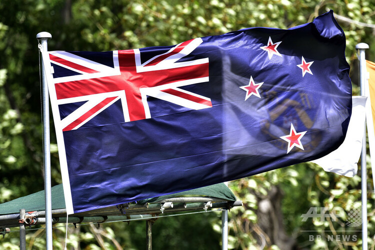 ニュージーランドの国旗(2015年12月11日撮影、資料写真)。(c)Marty MELVILLE / AFP
