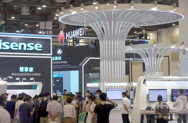 14日に開催された2020年グローバル人工知能(AI)製品応用博覧会(2020年8月16日撮影)。(c)CNS/王建康