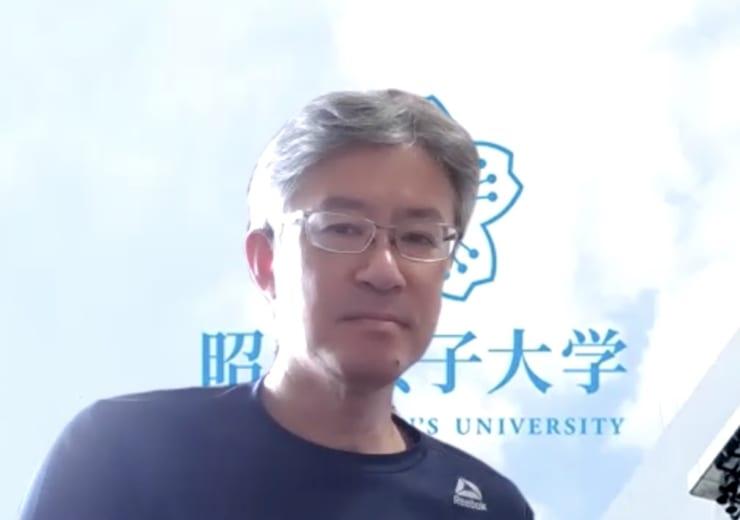 前田純弘教授(ZOOM画面よりキャプチャー)