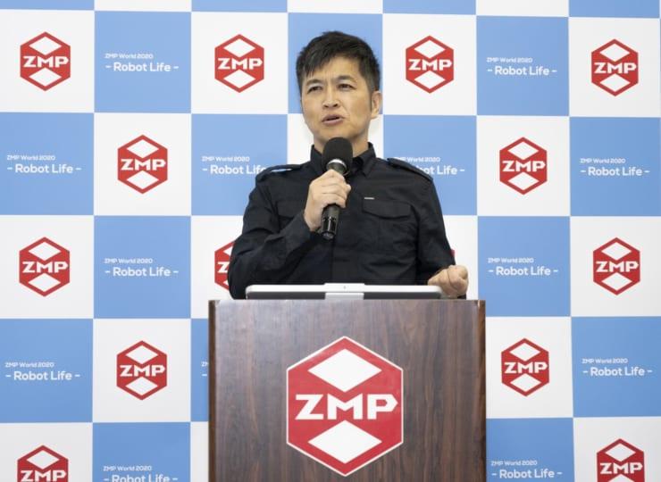 「低速自動運転ロボット」や「ロボタウン構想」を発表する 株式会社ZMP代表取締役社長の谷口恒氏