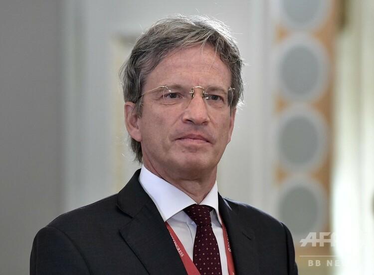 フランス通信(AFP)のファブリス・フリース会長(2019年6月6日撮影、資料写真)。(c)Alexey NIKOLSKY / SPUTNIK / AFP