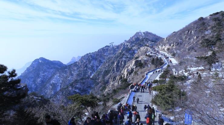 山東省の泰山は「インテリジェント泰山」に