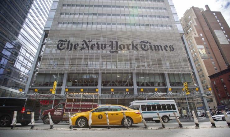 ニューヨーク・タイムズ社(撮影:新垣謙太郎)