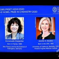 2020年ノーベル化学賞、仏米の女性研究者2氏に ゲノム編集技術研究