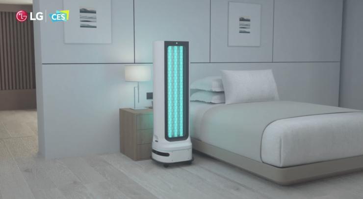 LGの自走式消毒ロボット