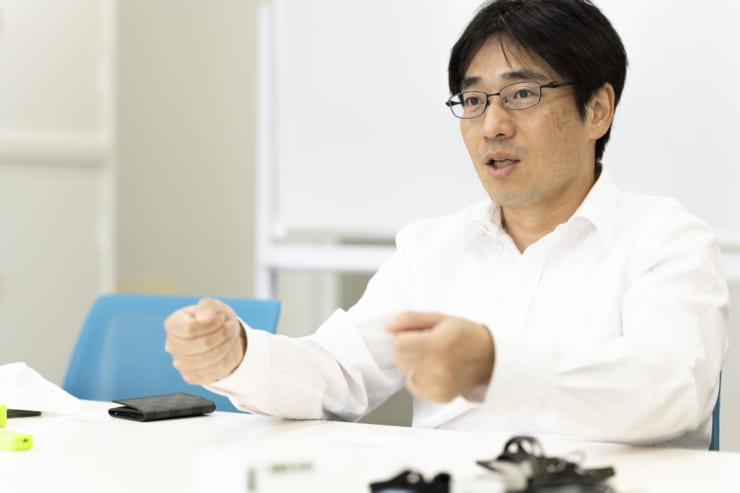 モイスチャーセンサ開発の経緯を説明する川喜多氏