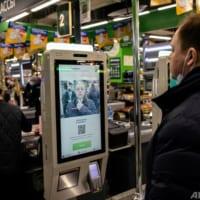 ロシア食品小売り大手、スーパーやコンビニで顔認証決済