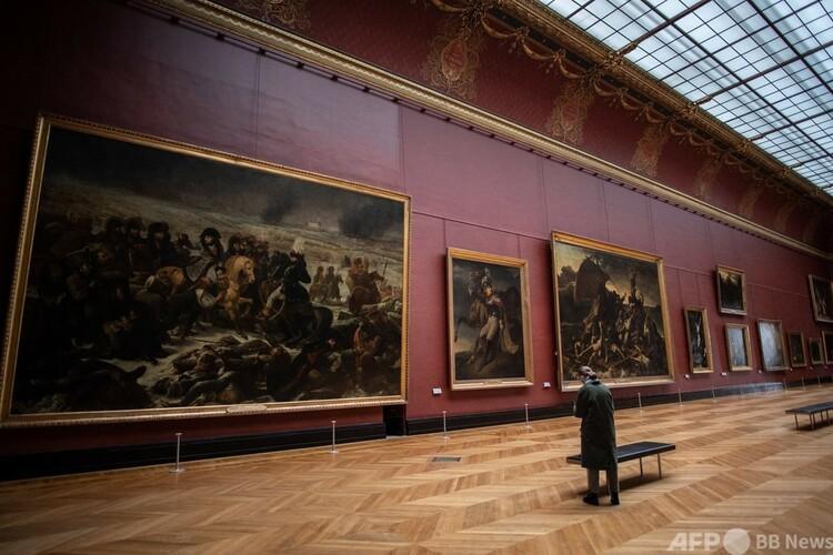 仏パリのルーブル美術館(2021年1月8日撮影)。(c)Martin BUREAU : AFP
