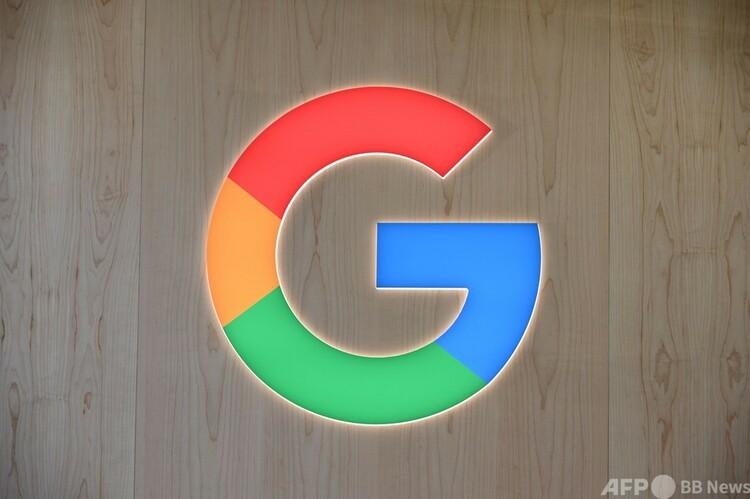 米グーグルのロゴ(2020年1月8日撮影、資料写真)。(c)Robyn Beck : AFP