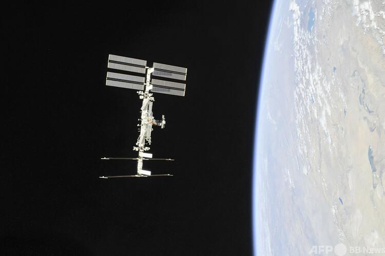 国際宇宙ステーション(ISS)。米航空宇宙局(NASA)提供(撮影日不明、2018年11月4日入手)。(c)AFP PHOTO / NASA/ROSCOSMOS