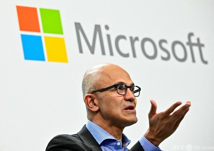 米マイクロソフトのサトヤ・ナデラ最高経営責任者(2019年2月27日撮影)。(c)Tobias SCHWARZ : AFP