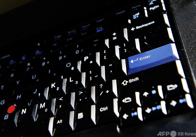 パソコンのキーボード(2012年7月9日撮影、資料写真)。(c)Greg Wood : AFP
