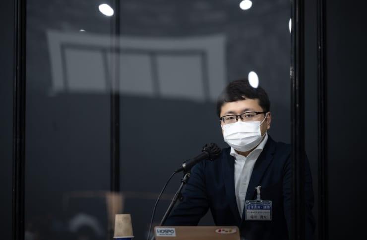 登壇中のインターステラテクノロジズ代表取締役 稲川貴大氏