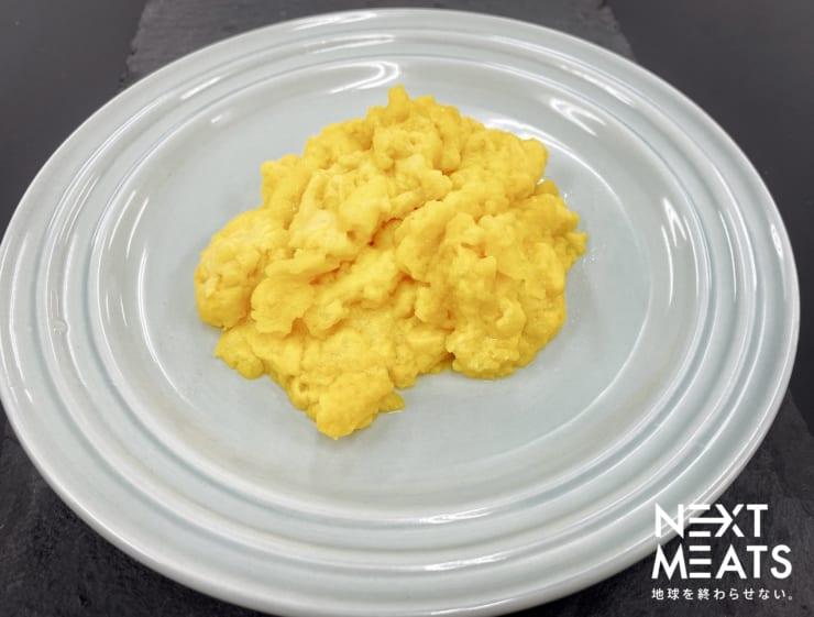 動物性不使用の代替卵「NEXT EGG1.0」(同社のリリースより)