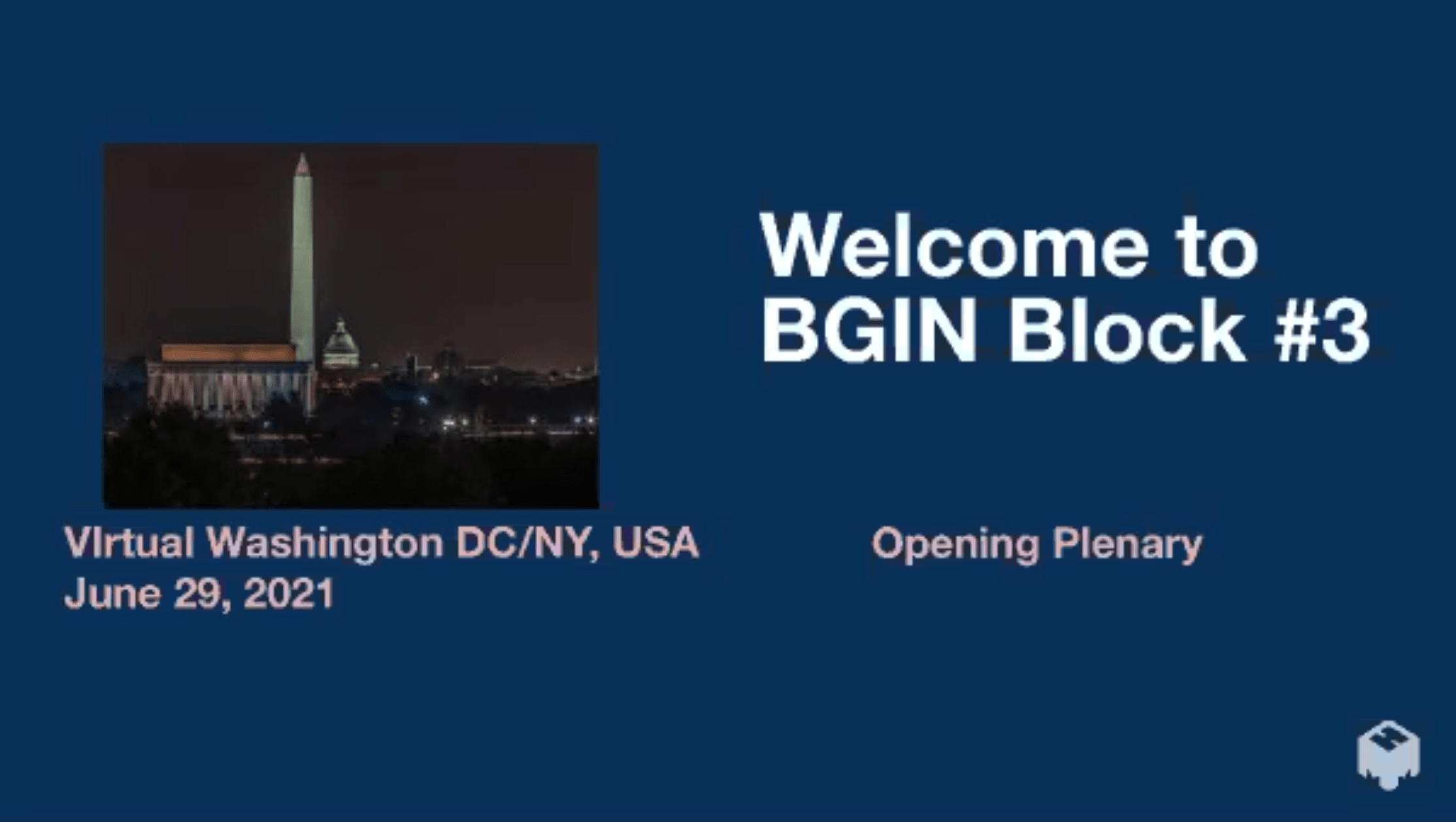 BGIN Block#3が開催された(BGINの告知ページより)