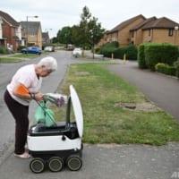 自律走行の宅配ロボット、ロンドン郊外で大活躍