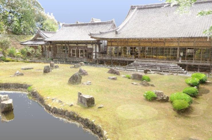 3Dスキャンされた常栄寺庭園(提供:YCAM)
