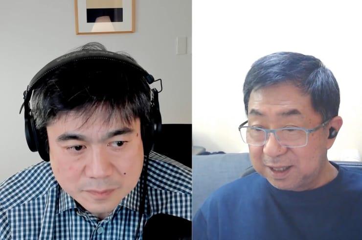 伊藤穰一(左)と武邑光裕氏(右)